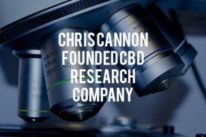"Image of a microscope with the words, ""Chis Cannon Founded CBD Company"" in front of it"